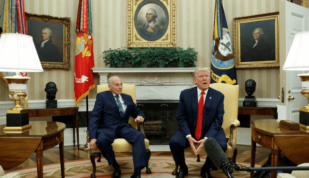 Donald Trump y John Kelly en la Casa Blanca