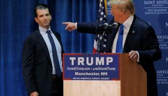Donald Trump y su hijo Donald Jr. (Reuters/Archivo)