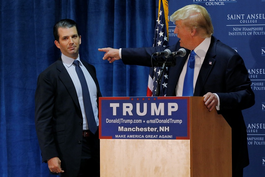 Donald Trump y su hijo Donald Jr. (Reuters/Archivo)