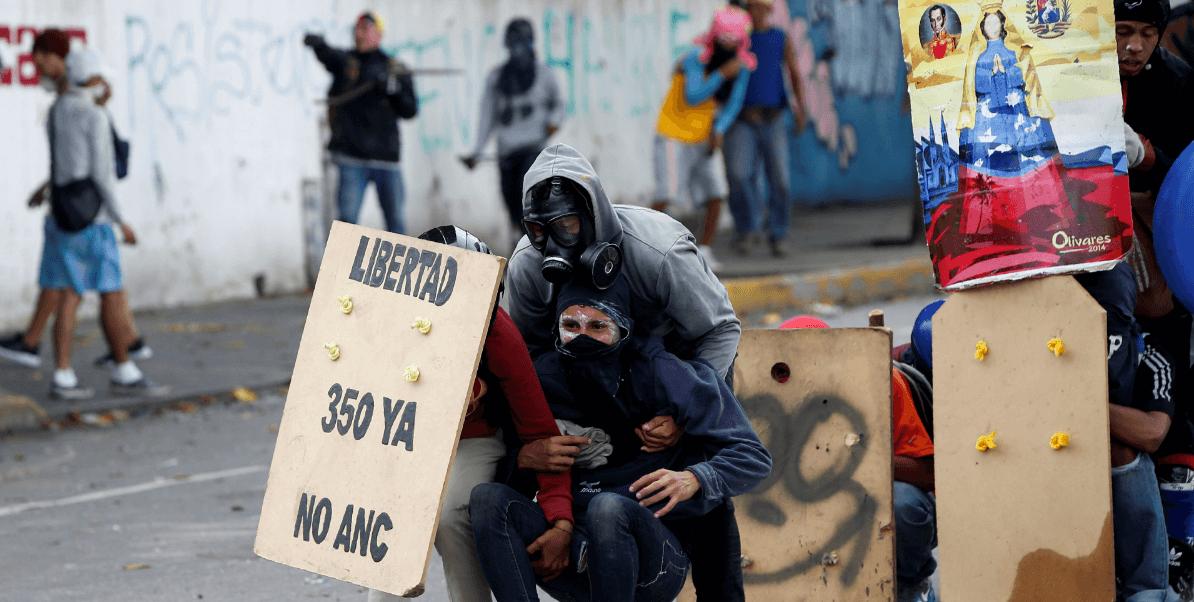 Protestas en Venezuela durante paro civico