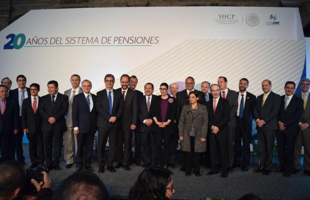 Celebración de los 20 años del Sistema de Pensiones y Afores. (Twitter Vanessa Rubio M.)
