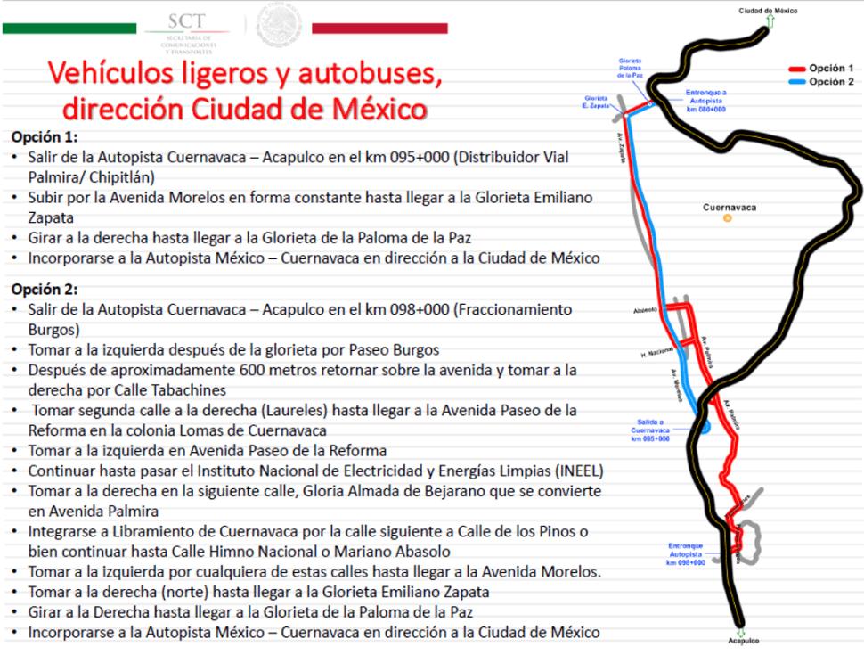 Vehículos ligeros y autobuses, dirección CDMX.