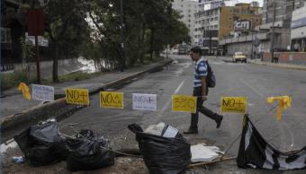 Huelga general convocada por la oposicion en venezuela