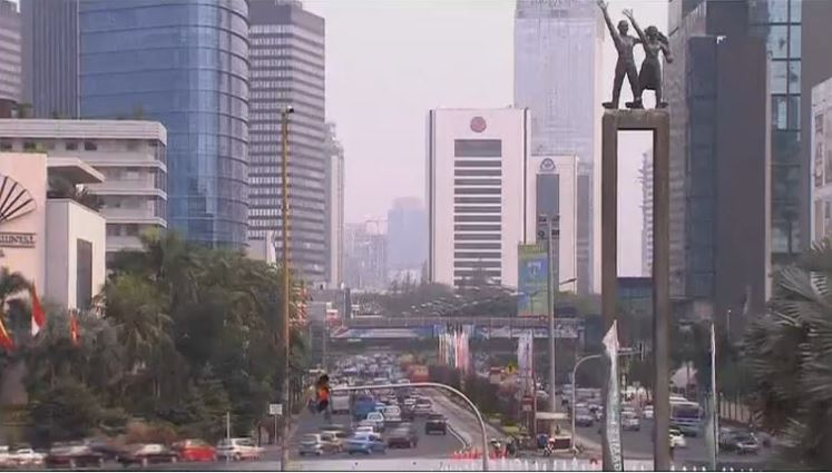 Vista de Yakarta, capital económica de Indonesia
