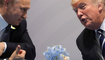 Vladimir Putin, presidente de Rusia, y Donald Trump, presidente de EU