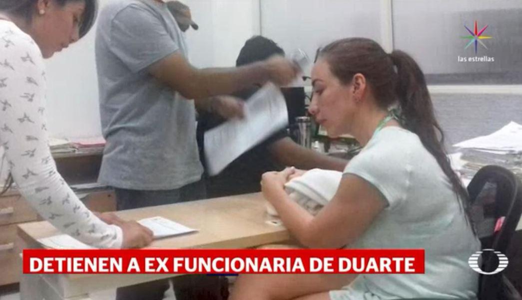 Detienen Xóchitl Tress vinculada Javier Duarte