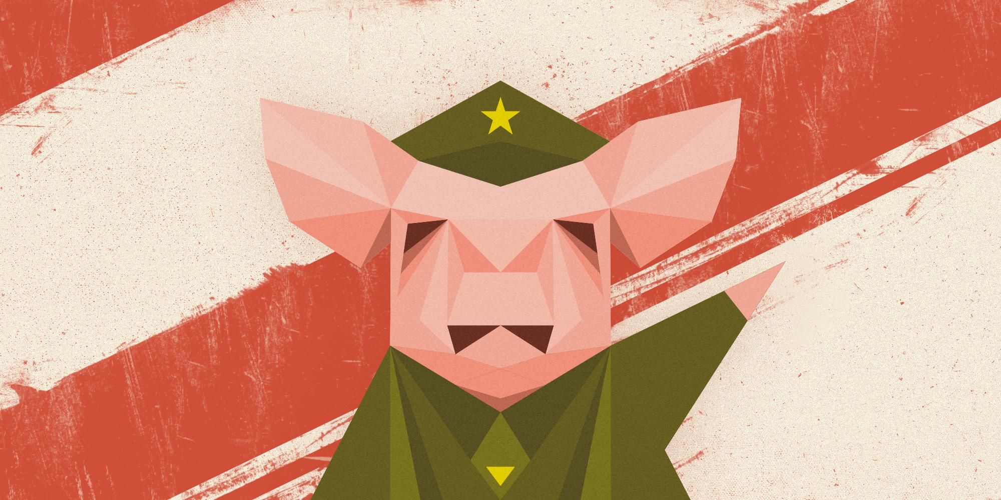 Rebelión en la granja, George Orwell, Poder Político