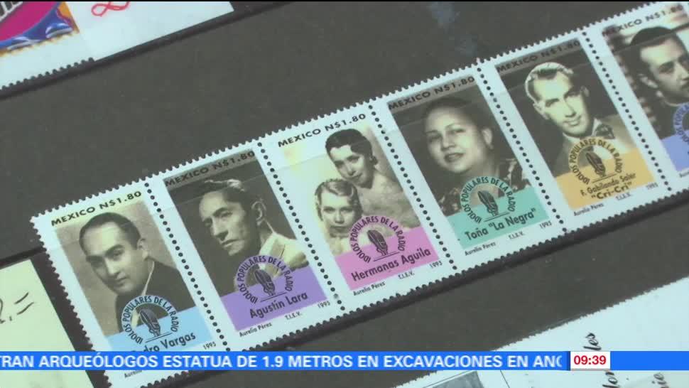 primera, estampilla, postal, México