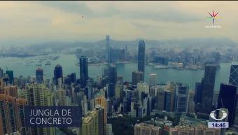 Hong Kong Vista Dron Imagen Entrañas