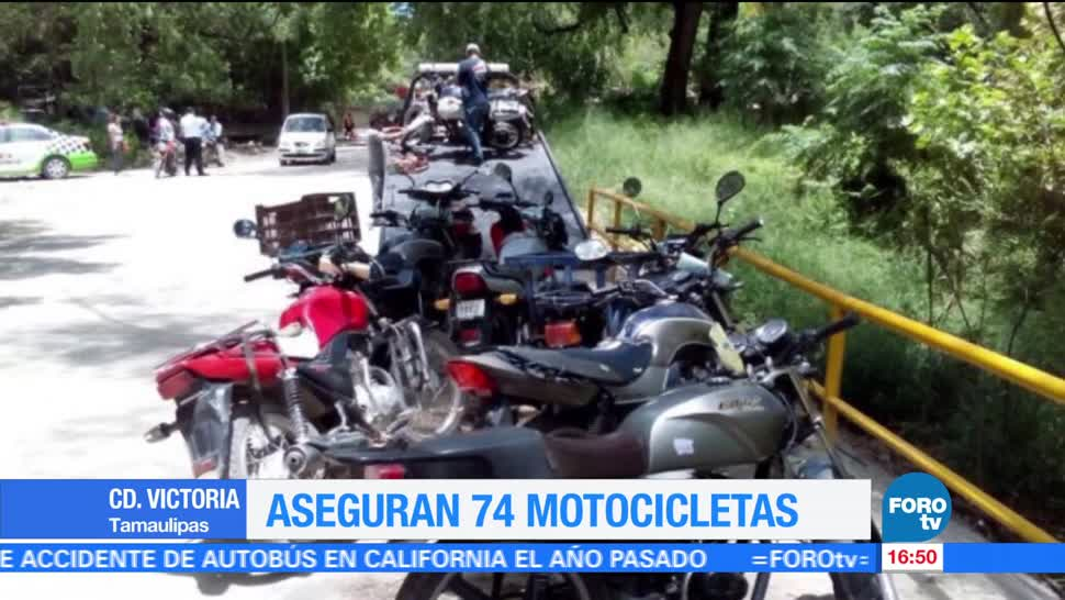 Aseguran Motos Victoria Tamaulipas Ciudad Autoridades Motocicletas