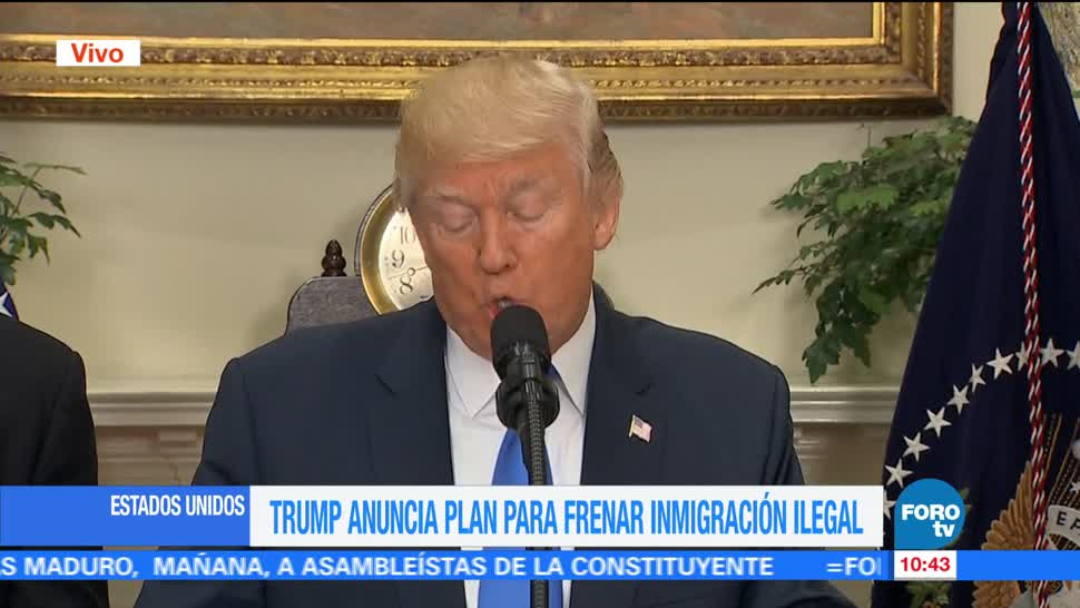 Trump Plan Frenar Inmigración ilegal