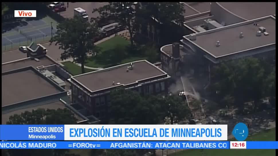 Explosión, escuela, Minneapolis, muerto