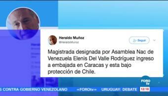 Magistrados venezolanos, protección, embajada, Chile