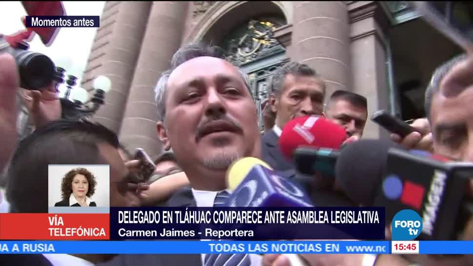 Delegado Tláhuac sale Asamblea Legislativa CDMX