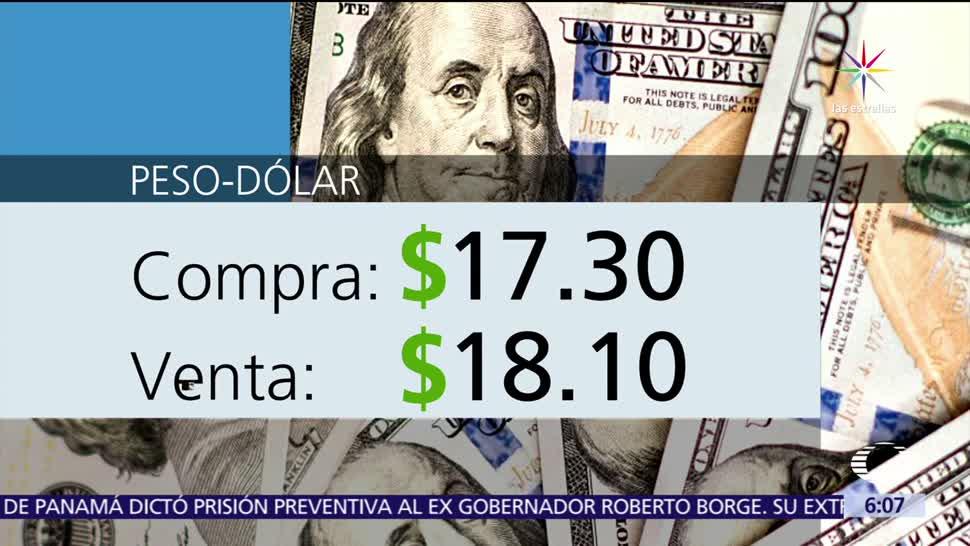 Dólar Compra $18.10 Ventanillas bancarias