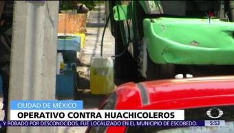 Operativo, huachicoleros, CDMX, detenidos