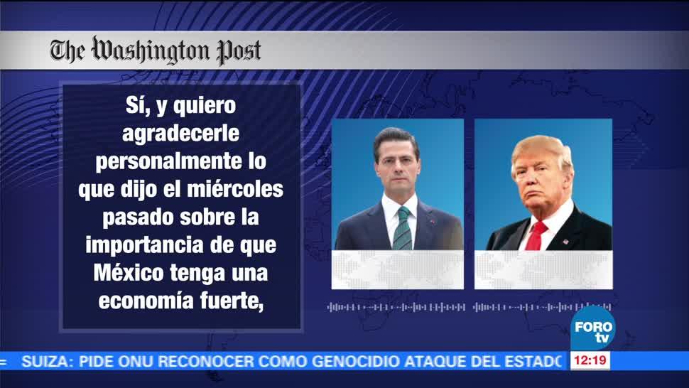 Hablaron Trump Peña Nieto Conversación telefónica