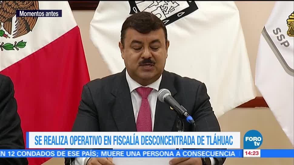 PGJCDMX realiza operativo en la Fiscalía Desconcentrada en Tláhuac