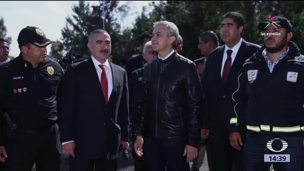 Miguel Ángel Mancera encabeza operativo en Tláhuac