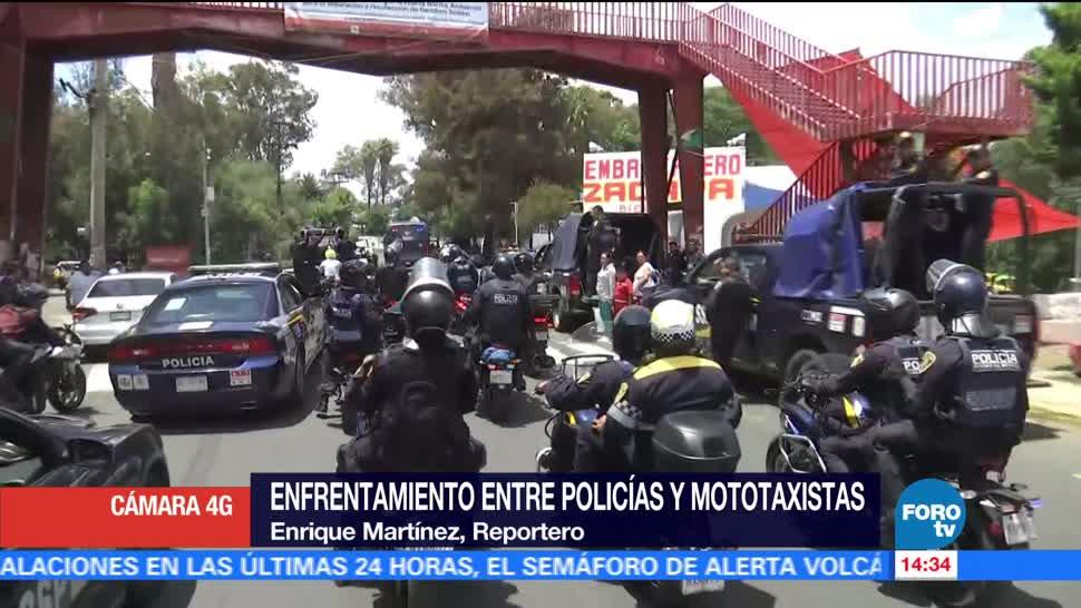 Termina operativo contra mototaxistas en Xochimilco