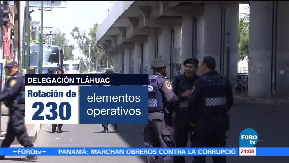 Autoridades capitalinas Remueven mandos seguridad Tláhuac