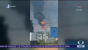 Incendia Refineria Hidalgo Chimenea Planta Catalitica Tula