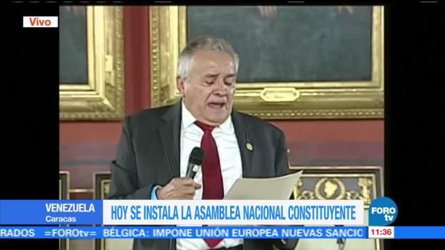 Previo Instalacion Asamblea Constituyente Venezuela