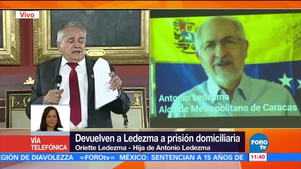 Antonio Ledezma Permanecio Celda Hija Prision Domiciliara