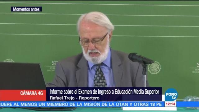 Informe Examen Ingreso Educacion Media Superior