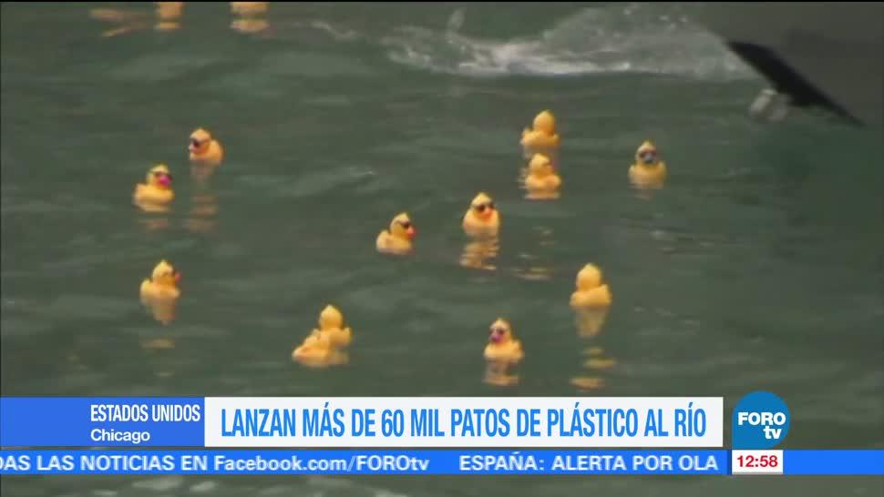 Miles Patos Goma Fueron Lanzados Rio Chicago