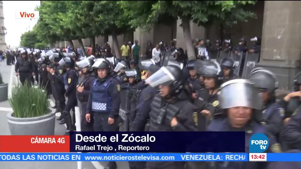 Reanudan Circulacion 20 Noviembre Protesta Comerciantes