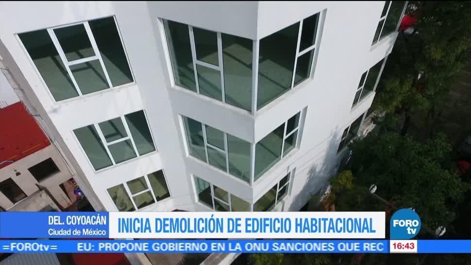 Realizan demolición de excedentes en Coyoacán
