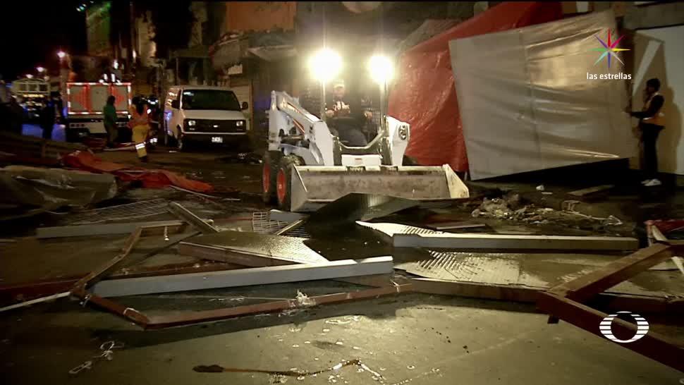 Operativo contra ambulantes desata protesta en el Zócalo