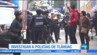 Investigan Policias Tlahuac Continuan Investigaciones Elementos Policiacos