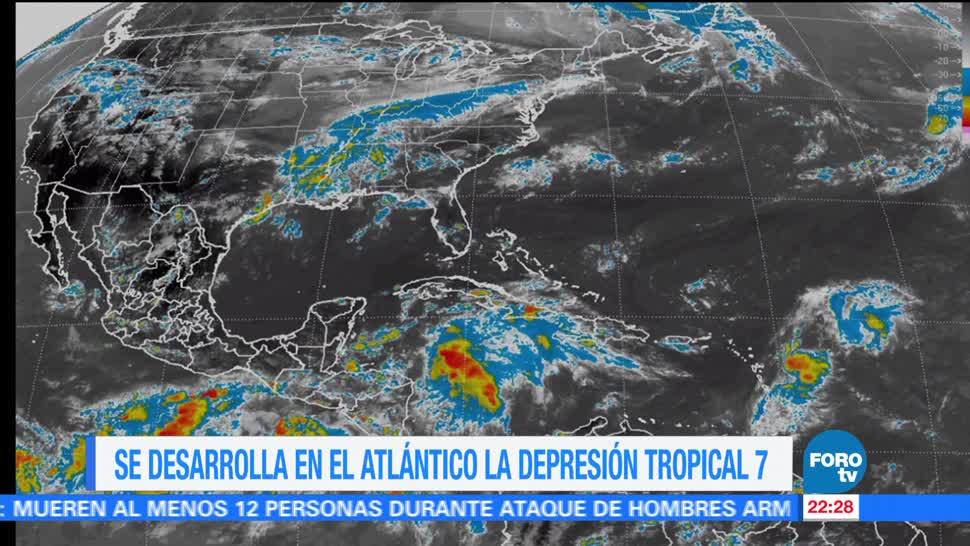 Se forma en el Atlántico la depresión tropical siete