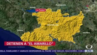 Detienen, El Amarillo, amenazas, policías