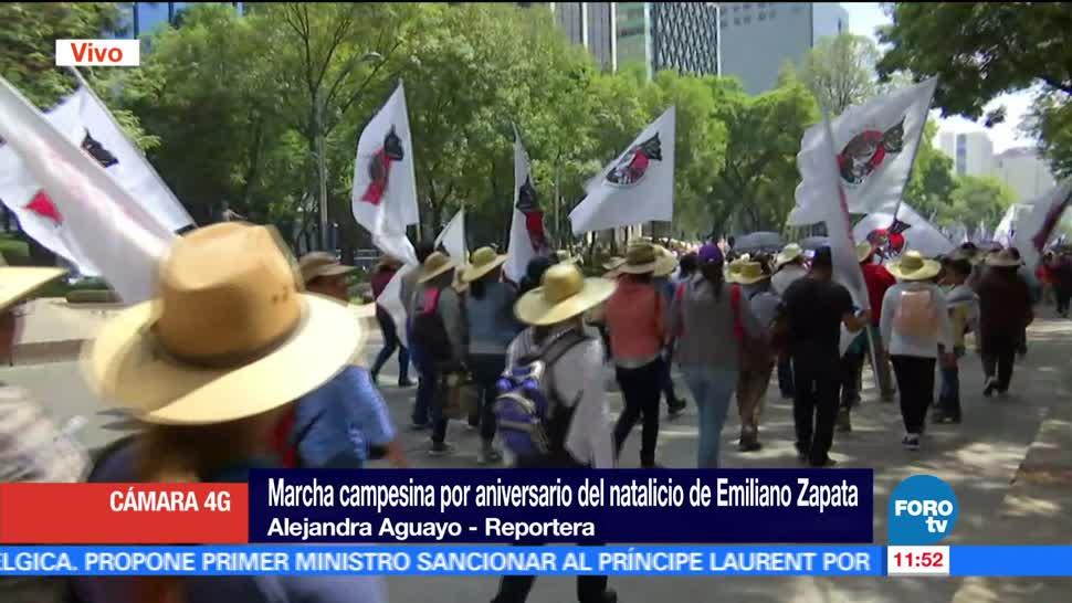 Marchan Campesinos CDMX Emiliano Zapata