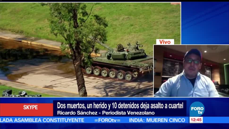 muertos, asalto, cuartel militar, Venezuela