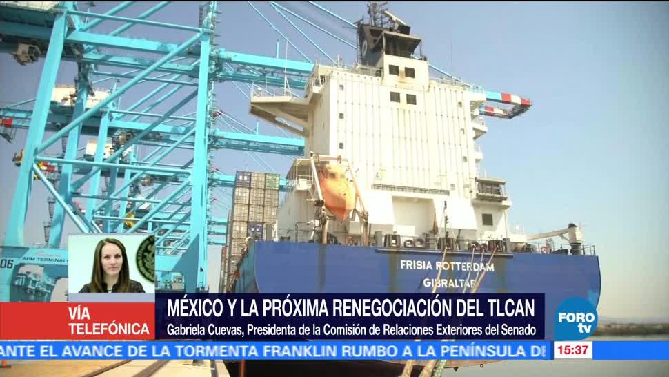 Gabriela Cuevas Proxima Renegociacion TLCAN Presidenta Comision Relaciones Exteriores Senado