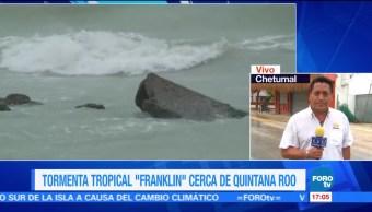Esperan Horas Continuas Lluvia Llegada Franklin Quintana Roo