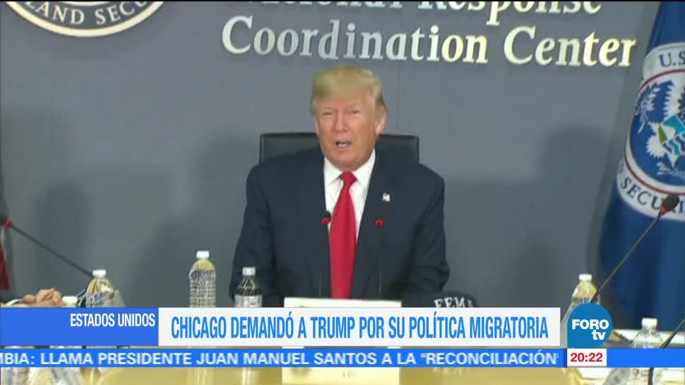 Chicago demanda Trump por política migratoria