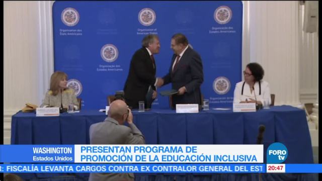 Presentan programa educación inclusiva en OEA