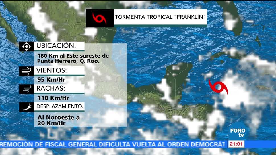 Alerta siete estados mexicanos por Franklin