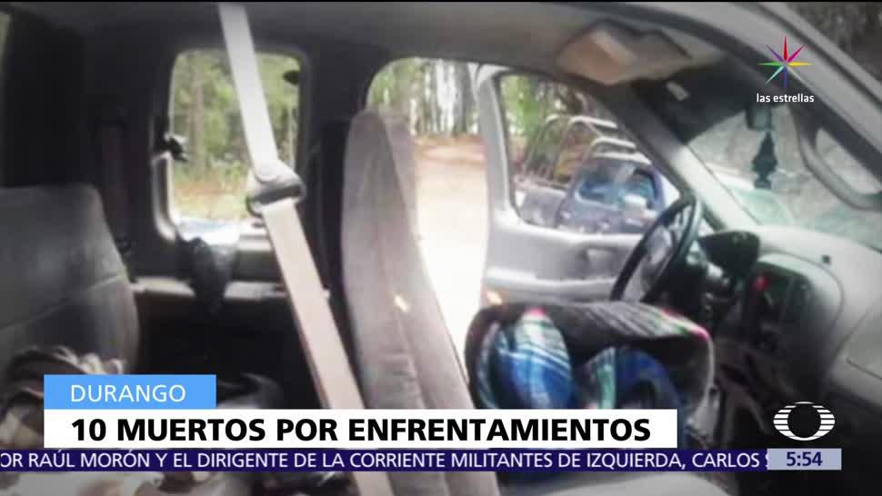Enfrentamiento, familias, Durango, muertos