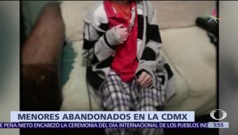 Rescatan Menor Abandonado Cuauhtémoc