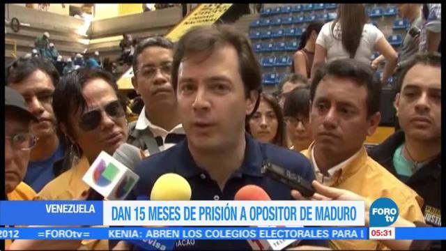 Sentencian, alcalde venezolano, opositor, Maduro
