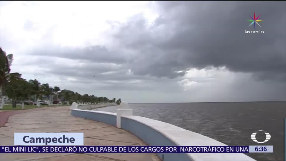 Campeche, llegada, tormenta, Franklin