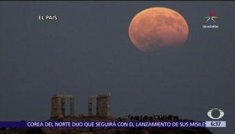 registra, segundo, eclipse lunar, 2017
