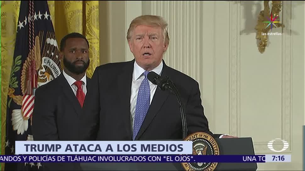 Trump, arremete, contra, medios