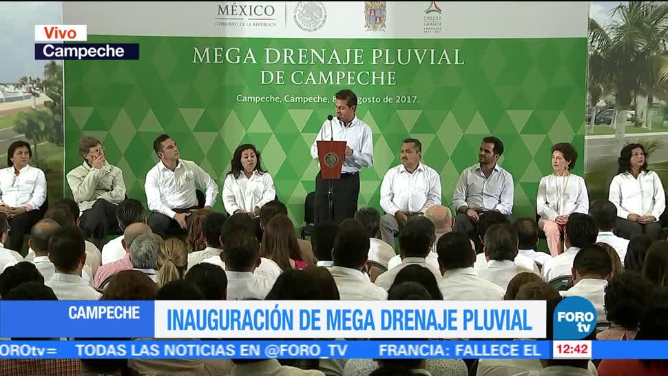 Enrique Peña Nieto Inaugura Drenaje pluvial Campeche